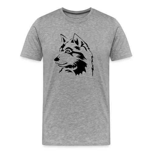 animal t-shirt wolf wolves pack hunter predator howling wild wilderness dog husky malamut - Men's Premium T-Shirt