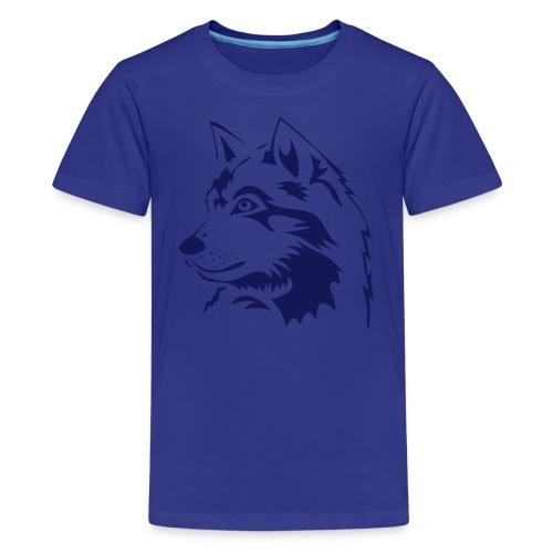 animal t-shirt wolf wolves pack hunter predator howling wild wilderness dog husky malamut - Kids' Premium T-Shirt