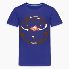 Hungry cat stare Kids' Shirts