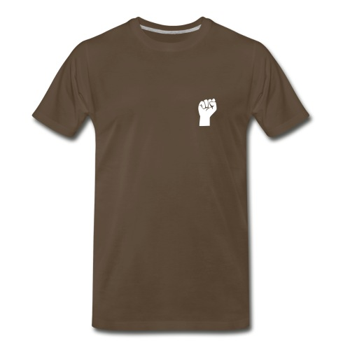 We are the 99 percent on back /Fist Revolution Icon on Front - Men's Premium T-Shirt
