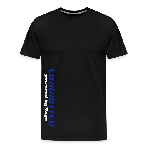 COMMITTED RAGE TEE - Men's Premium T-Shirt