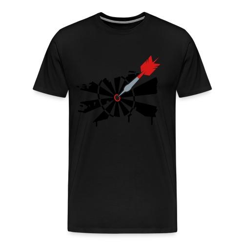 Dartboard Sketch - Men's Premium T-Shirt