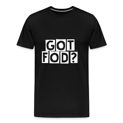 White got fod text - Men's Premium T-Shirt