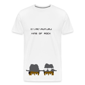 KING OF ROCK [pixelated] - Men's Premium T-Shirt