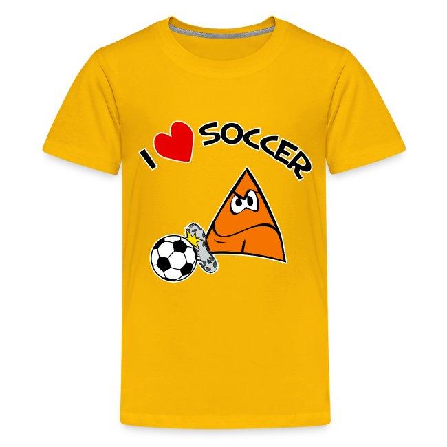 I Love Soccer kids tee