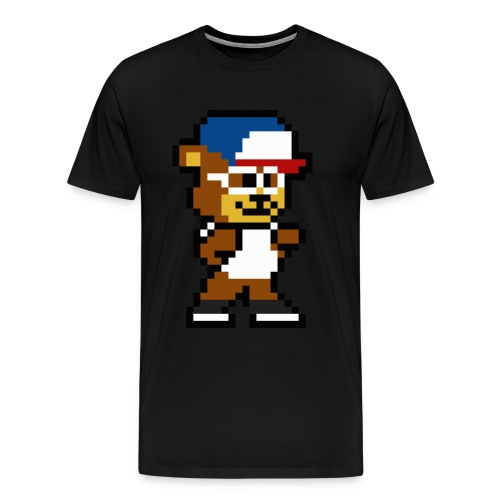 8-Bit DJ Teddy Eddy - Men's Premium T-Shirt