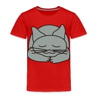 Sleeping Cat - Toddler Premium T-Shirt