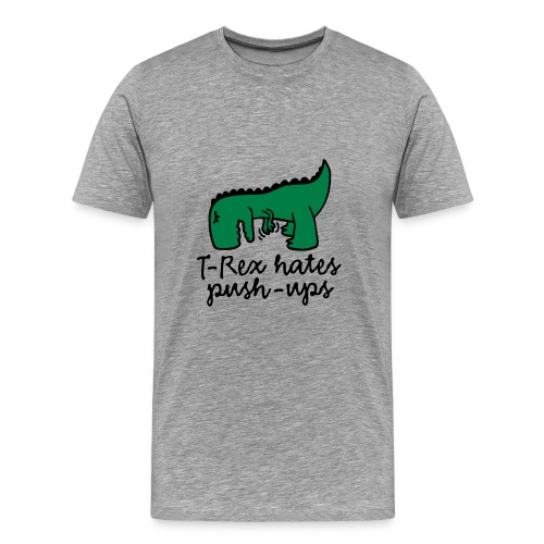 Trex Pushup - Men's Premium T-Shirt