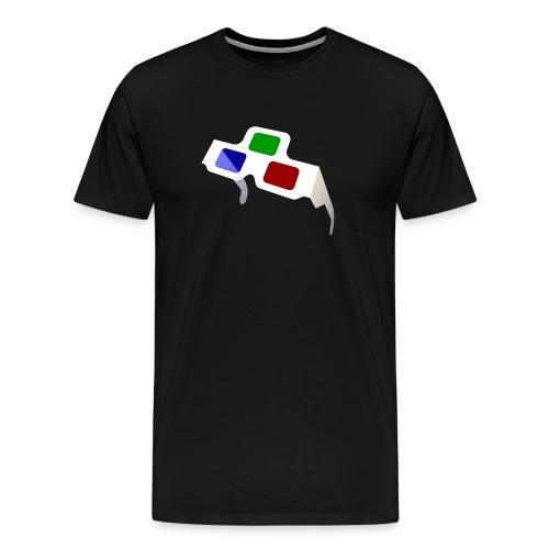 Big 4D Glasses Logo - Men's Premium T-Shirt
