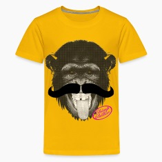 Chimp Chiller - Mustache Kids' Shirts