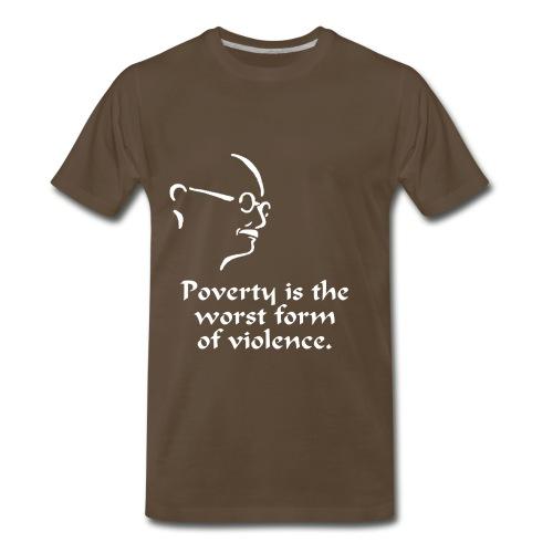 Gandhi – Poverty - Men's Premium T-Shirt