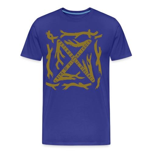 [M] Plus Gold Blue Blood - Men's Premium T-Shirt