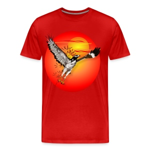 Augur meets the morning son-oval - Men's Premium T-Shirt