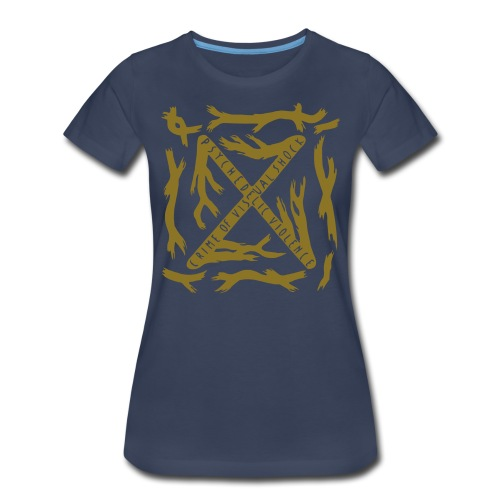 [W] Plus Gold Blue Blood - Women's Premium T-Shirt