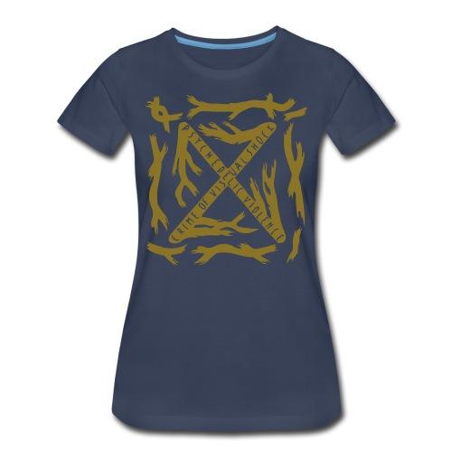 [W] Plus Gold Blue Blood - Women's Premium T-Shirt