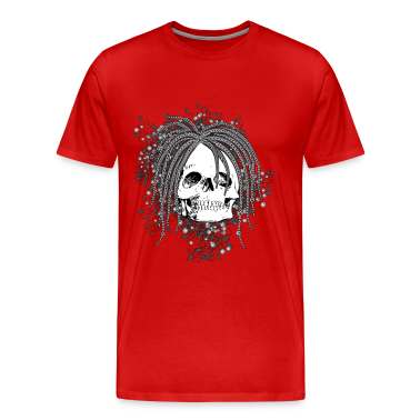 Wild Haired Skull T-Shirts