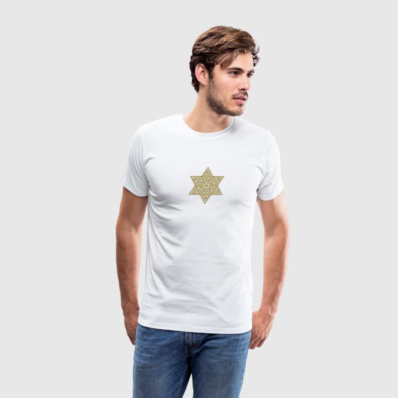Merkaba - sacred geometry -  Flower of life, c, 2, T-Shirts - Men's Premium T-Shirt