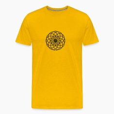 Flower of Life - Seed of Life - Tube Torus, DD gold-green, Sacred Geometry, Energy Symbol T-Shirts
