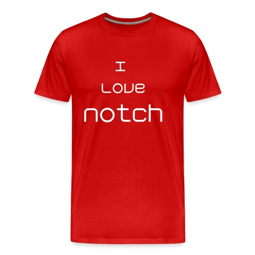 I love Notch - Men's Premium T-Shirt