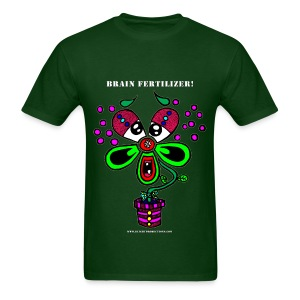 Brain Fertilizer (Men's) dark green - Men's T-Shirt