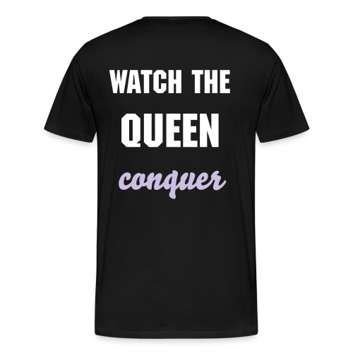 Men's Watch the Queen Conquer purple - Men's Premium T-Shirt