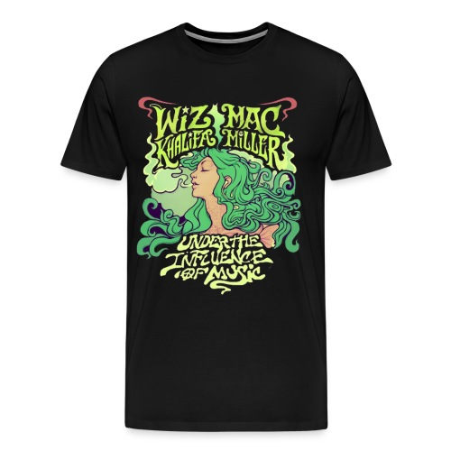 Wiz Khalifa and Mac Miller Under the Influence of Music Shirt BLACK - Men's Premium T-Shirt