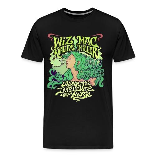 Wiz Khalifa and Mac Miller Under the Influence of Music Shirt BLACK - Men's Premium T-Shirt