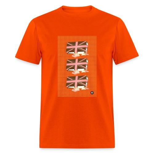 melting union jack sandwich - Men's T-Shirt