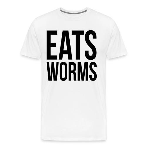 WORM Shirt EATS WORMS - Men's Premium T-Shirt