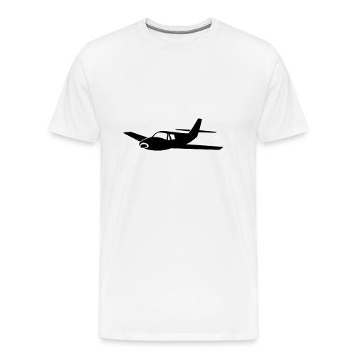 Airplane black silhouette  - Men's Premium T-Shirt
