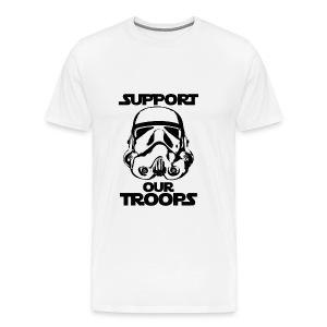 stormtrooper support our troops  - Men's Premium T-Shirt