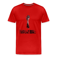 T-Shirts ~ Men's Premium T-Shirt ~ Good Work, Zombie Arm - The Cabin In The Woods | Robot Plunger