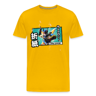 T-Shirts ~ Men's Premium T-Shirt ~ Tiger & Bunny - Origami Cyclone Panel Tee