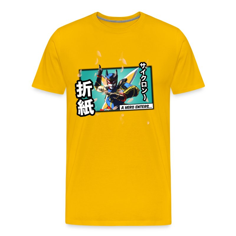Tiger & Bunny - Origami Cyclone Panel Tee - Men's Premium T-Shirt