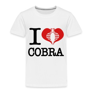 I Heart Cobra - Toddler Premium T-Shirt