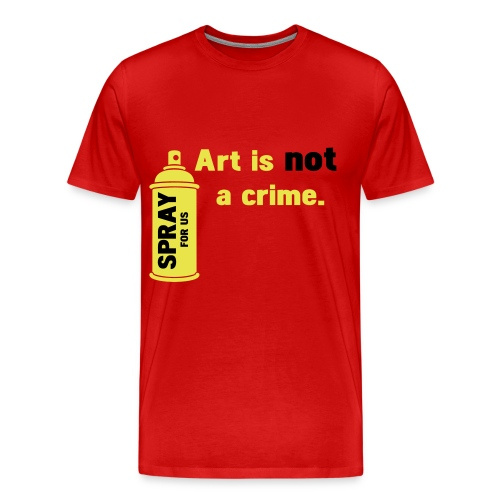 Art Is Not A Crime - Men's Premium T-Shirt