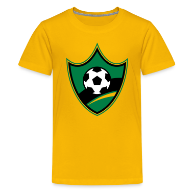 Soccer Blazon Logo 02_3c Kids' Shirts
