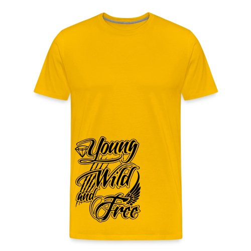 Young Wild and Free Tee - Men's Premium T-Shirt