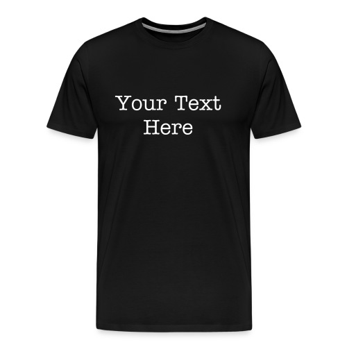 Custom Text Heavyweight Tee - Men's Premium T-Shirt