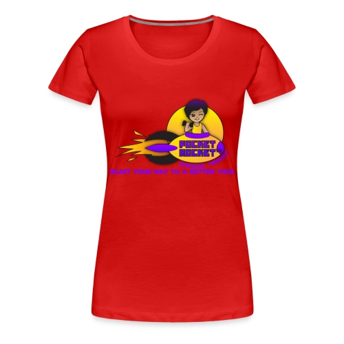 pocketrocketlogob - Women's Premium T-Shirt
