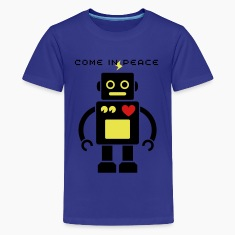 Cute Robot 2_3c Kids' Shirts
