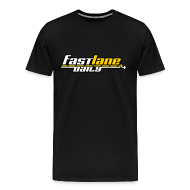T-Shirts ~ Men's Premium T-Shirt ~ Fast Lane Daily 3-color Logo on Heavyweight T