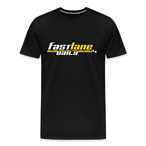 Fast Lane Daily 3-color Logo on Heavyweight T - Men's Premium T-Shirt