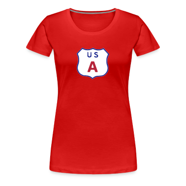 US Highway sign USA Women's T-Shirts