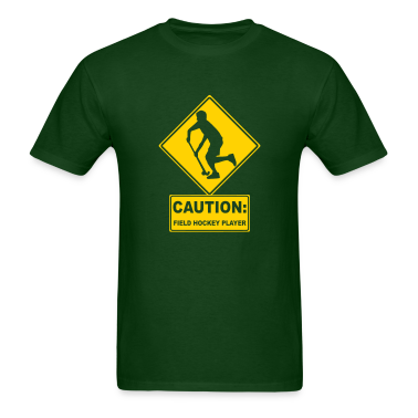Caution: Field Hockey Player T-Shirts