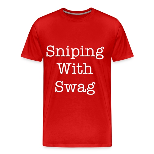 Sniping With Swag T-Shirt - Men's Premium T-Shirt