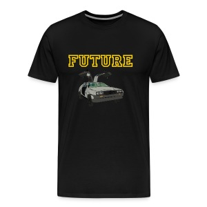 Delorean Tee (Gold) - Men's Premium T-Shirt