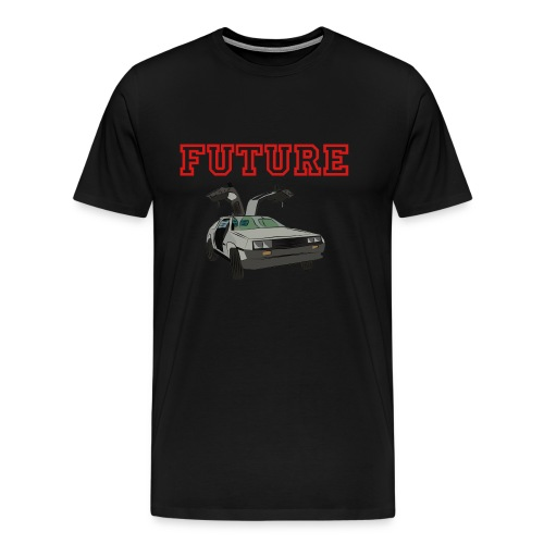 Delorean Tee (Red) - Men's Premium T-Shirt