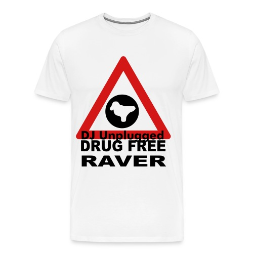 Drug Free Raver Coloured Design - Men's Premium T-Shirt