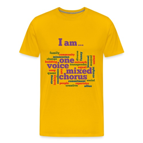 I am One Voice - Men's Heavyweight T-Shirt - Men's Premium T-Shirt